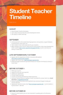Student Teacher Timeline