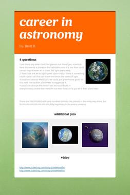 career in astronomy