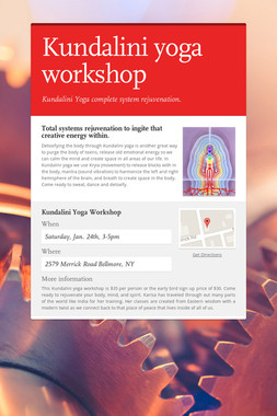 Kundalini yoga workshop