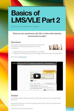 Basics of LMS/VLE Part 2