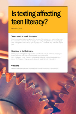 Is texting affecting teen literacy?