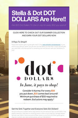 Stella & Dot DOT DOLLARS Are Here!!