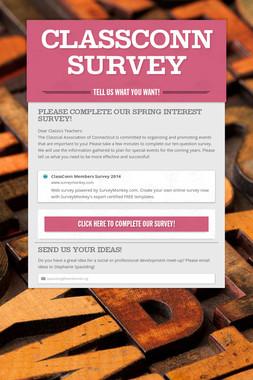 ClassConn Survey