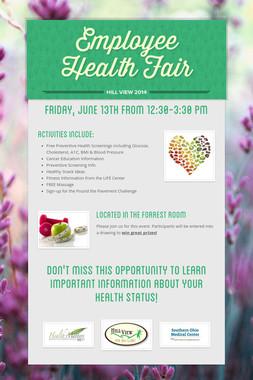 Employee Health Fair