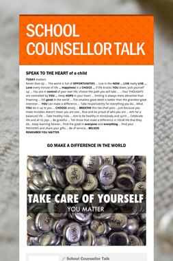 SCHOOL COUNSELLOR TALK