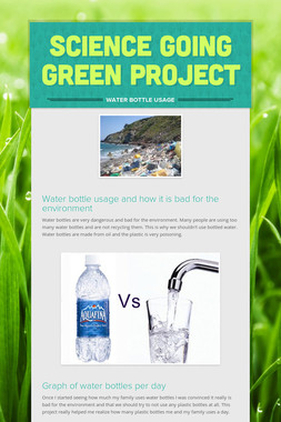 SCIENCE GOING GREEN PROJECT