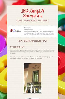 JEDcampLA Sponsors