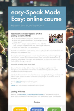 easy-Speak Made Easy: online course