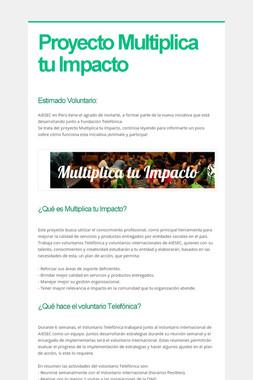 Proyecto Multiplica tu Impacto