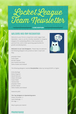Locket League Team Newsletter