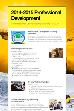 2014-2015 Professional Development