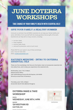 June doTERRA Workshops