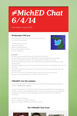 #MichED Chat 6/4/14