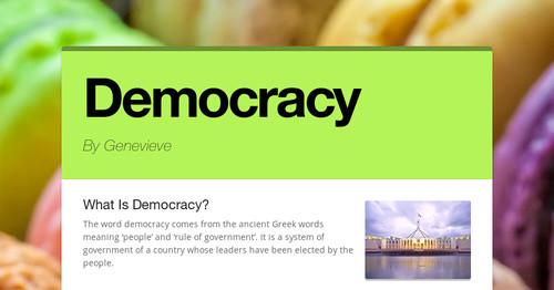 Democracy   Smore