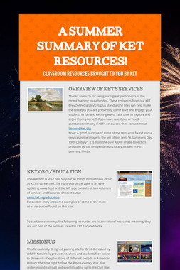 A Summer Summary of KET Resources!
