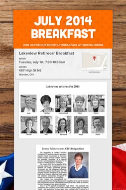 JULY 2014 BREAKFAST