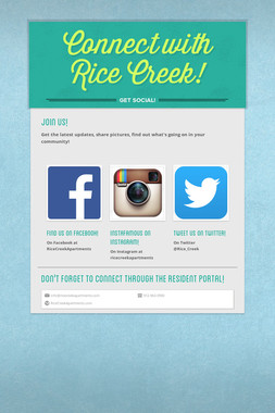 Connect with Rice Creek!