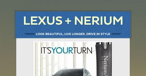 Lexus Nerium Smore Newsletters