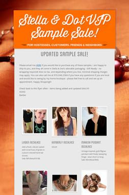 Stella & Dot VIP Sample Sale!