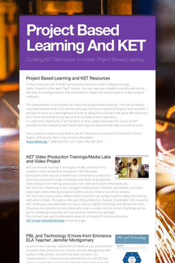 Project Based Learning And KET