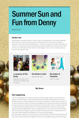 Summer Sun and Fun from Denny
