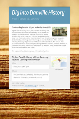 Dig into Danville History