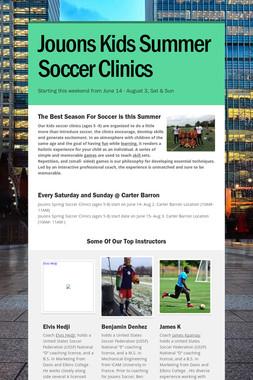 Jouons Kids Summer Soccer Clinics