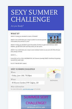 SEXY SUMMER CHALLENGE
