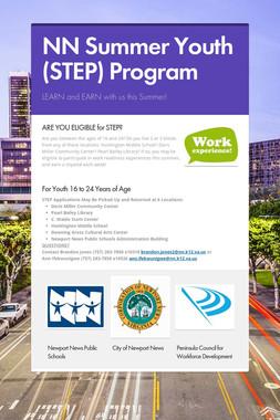 NN Summer Youth (STEP) Program