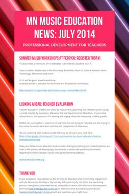 MN Music Education News: July 2014
