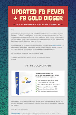 Updated FB Fever + FB Gold Digger