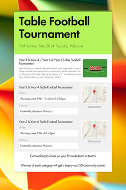 Table Football Tournament