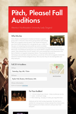 Pitch, Please! Fall Auditions