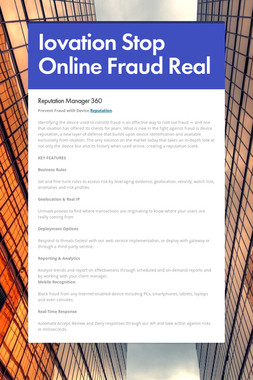 Iovation Stop Online Fraud Real