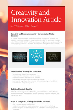 Creativity and Innovation Article