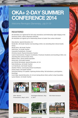 OKA+ 2-DAY SUMMER CONFERENCE 2014