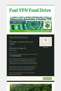 Fuel YPN Food Drive