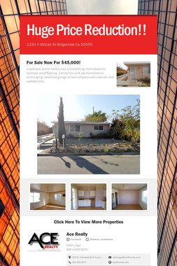 Huge Price Reduction!!