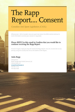 The Rapp Report.... Consent