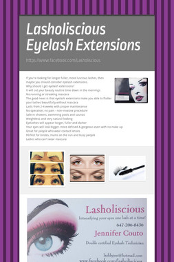 Lasholiscious Eyelash Extensions