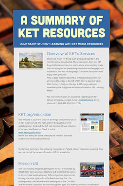 A Summary of KET Resources
