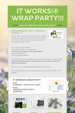 It Works!® WRAP PARTY!!!