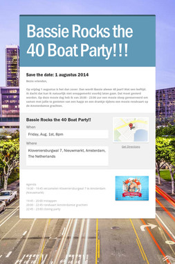 Bassie Rocks the 40 Boat Party!!!