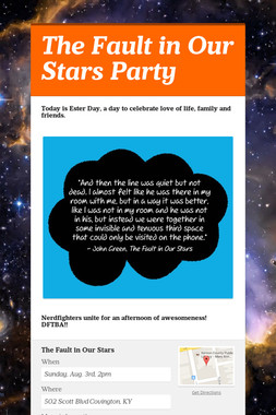The Fault in Our Stars Party