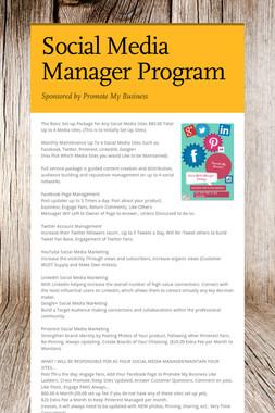 Social Media Manager Program