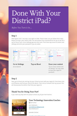 Done With Your District iPad?