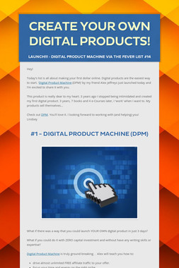 Create Your Own Digital Products!