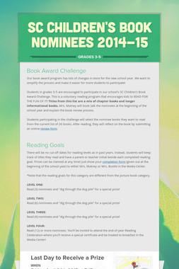 SC Children's Book Nominees 2014-15