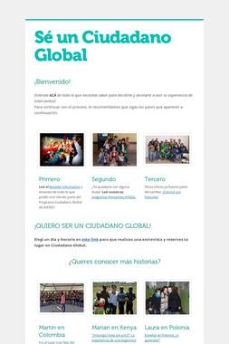 Sé un Ciudadano Global