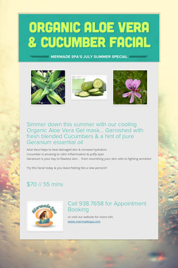 Organic Aloe Vera & Cucumber Facial